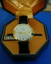 Exquisite 1973 Vintage Mans Bulova Self Winding, Silver Dial, Fully Serviced