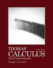 Thomas Calculus 12th Edition: Thomas' Calculus Early Transcendentals, Single...