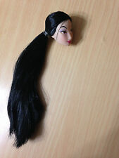 Disney Store Princess Mulan Barbie Doll's Head Raven Long Hair Asian Face