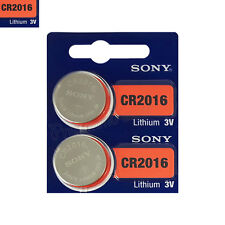 2 x SONY Lithium CR2016 batteries 3V Coin Cell DL2016 ERC2016 BR2016 EXP:2025