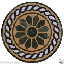 Size 2'x2' Black Marble Side Coffee Table Top Inlay Marquetry Christmas Decor