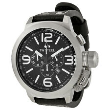 TW Steel Canteen Chronograph Black Dial Stainless Steel Mens Watch TW4