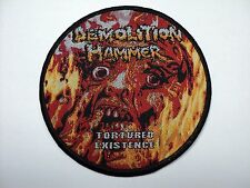 demolition hammer tortured the existence   woven patch