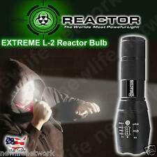 REACTOR EXTREME L2 Flashlight X800 Tactical Blind Your Attacker FREE SHIPPING