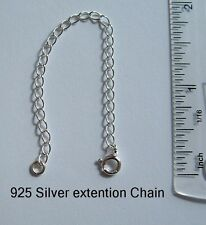 925 Sterling Silver extension chain extender with bolt ring catch 4ins