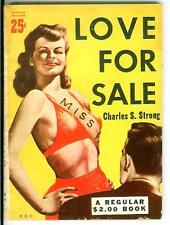 LOVE FOR SALE, rare US Knickerbocker Book sexy sleaze gga pin-up digest pulp pb