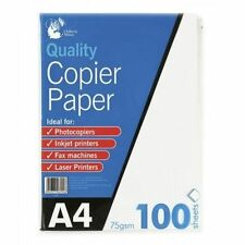 100 Sheets A4 75gsm Paper Bright White Printer Copier Office Home Copy Printing
