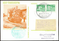 East Germany 1983 Railway Illustrated H/S Stationery Postal Card #C36065