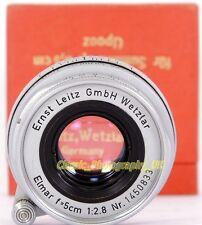ELMAR f=5cm 1:2.8 LEICA LTM Screw 2.8/50mm Lens By E. LEITZ Wetzlar Made in 1956