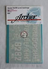 Archer 1/16 Russian T-34/85 Tank Turret Markings WWII Sheet #1 (2 tanks) AR16008
