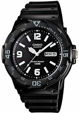 Casio Men's Analogue Day And Date Watch,  Black & White, MRW-200H-1B2VDF
