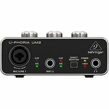 BEHRINGER U-PHORIA UM2 2x2 USB audio interface for recording microphon BRAND NEW