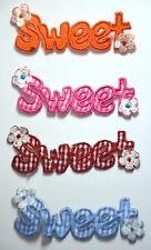1pc SWEET GINGHAM U CHOOSE  Embroidered Sew Iron On Cloth Patch Badge APPLIQUE