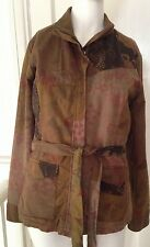 Per Una Jacket size 8/10 brown multi design with belt