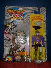 "Very Rare 1986 Bionic Six ""Glove"" Metal Figure - Original Card - Near Mint"