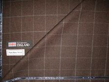 6-PLY PURE WOOL COUNTRY SPORTING CLASSIC TWEED AS FANCY PLAID DESIGN FABRIC-2 m.