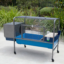Flyline Rabbit Bunny Guinea Pig Pet Hutch Cage with Castors 62100
