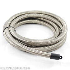 AN10 -10 14mm BRAIDED FUEL OIL HOSE LINE STAINLESS x 1M