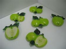 Green Apple magnets 6 pcs.Kitchen decor home bar set fruit Green refrigerator NU