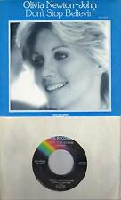 OLIVIA NEWTON-JOHN  Don't Stop Believin'  rare 45 with PicSleeve
