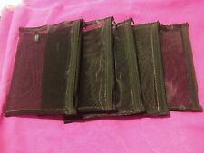 Mary Kay Lot Of 5 Zippered Mesh Makeup Bags Black NEW