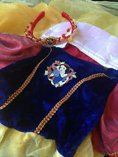 Snow White Princess Dress Up Costume Disney Store Halloween Girl size 5/6 crown