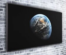 Earth rise panoramique wall art toile impression xxl 4.5 pi de large x 2 ft high