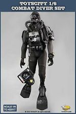 TOYSCITY 1:6 Scale Diver Combat Frogman Seal Water Ghost Soldier Clothes Costume