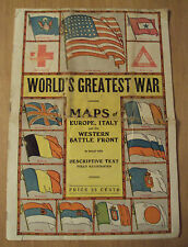 """1917 WWI Maps of Italy/Europe/Western Front~""""WORLD'S GREATEST WAR""""~Photos~"""