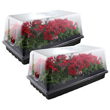 Apollo Horticulture Set of 2 Germination Seed Starter Trays with Humidity Dome