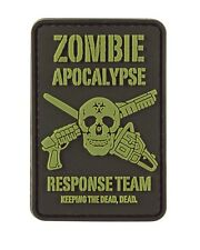 Zombie Apocalypse PVC Hook Moral Badge Military Patch airsoft paintball
