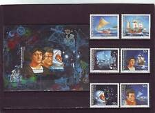 a113 - MARSHALL ISL - SG446-MS452 MNH 1992 LEGENDS OF DISCOVERY
