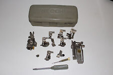 Vintage Necchi Sewing Machine Attachments Feet Accessory Box Low Shank