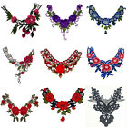 Women Lace Embroidered Floral Neckline Neck Collar Trim Clothes Sewing Applique