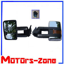 88-98 Chevy Silverado GMC Sierra C/K Tow POWER Telescoping CHROME Mirrors Pair