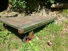 vintage Steampunk Industrial Furniture Train railroad Cart trailer coffee table