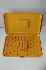 Vtg Wilson Wi-Hold Gold Sewing Notions Thread Storage Organizer Box Single Layer