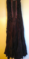 MY DESIGN PARIS Chocolate Brown LAGENLOOK French Designer Hippy PAGAN Dress T1