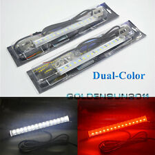 2x White/Red 30-SMD LED Lamps For License Plate,Backup,Brake Light Car Truck SUV