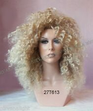 Diana Ross Style Sandy Blonde w Light Tips Afro Spiral Curls Fizz  Wig/wigs