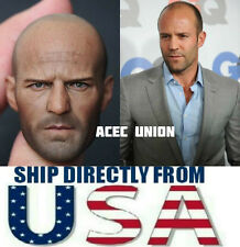 1/6 Jason Statham Head Sculpt Expendables For Hot Toys Muscular - U.S.A. SELLER