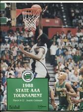High School Basketball Program Washington Prep WIAA 1988 State AAA HTF Redmond