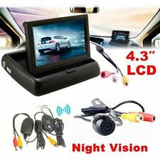 4.3 Car Rear View Monitor Wireless Car Backup Camera Parking System Kit a1