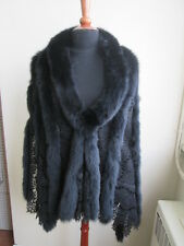 Brand New GUY LAROCHE PARIS Black Fox Fur Lace Cape Shawl Stole Wrap WEDDING