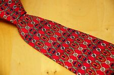 Brooks Brothers Makers Red Silk Vibrant Nautical Knot Bit Neck Tie USA 3.75""