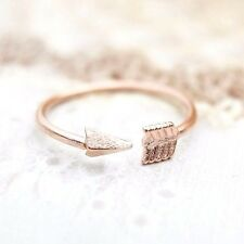 Rose Gold Arrow Pinky Ring Adjustable Ring Woman Fashion Jewelry