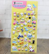 FD4502 Korea Design Miss Cats 3D Bubble Sticker for Diary Reward Moblie Phone✿