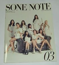 SNSD Girls' Generation JAPAN OFFICIAL FANCLUB MAGAZINE Vol.03 SONE NOTE