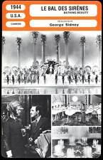 LE BAL DES SIRENES - Williams,Rathbone (Fiche Cinéma) 1944 - Bathing Beauty