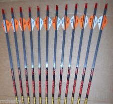 12-Gold Tip Hunter 400 5575 Carbon Arrows Blazer Vanes CUT TO LENGTH! expedition